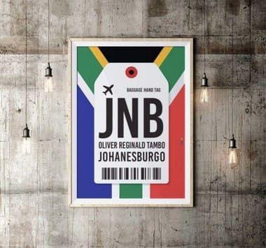 Pôster Aeroporto JNB -  Johanesburgo, África do Sul - Oliver Reginald Tambo