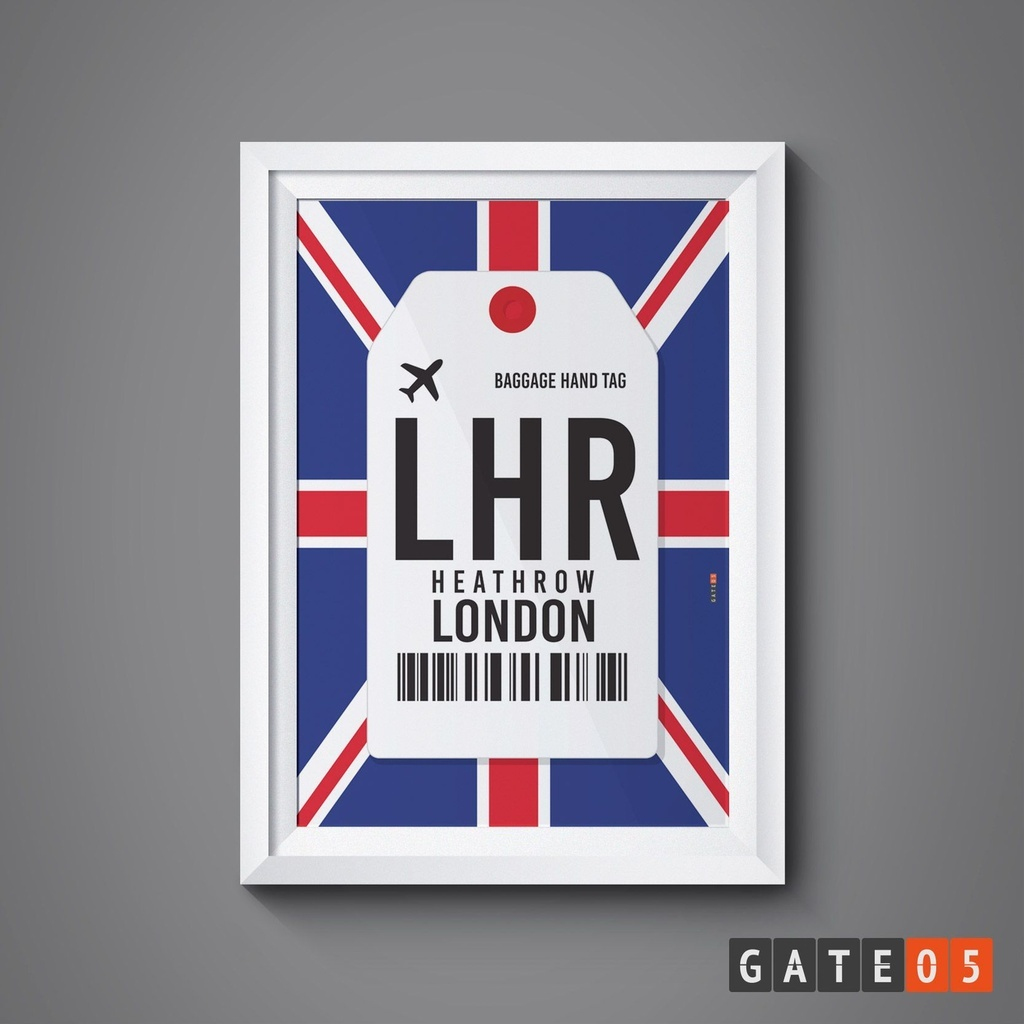 Pôster Aeroporto LHR - Londres, Inglaterra - Heathrow