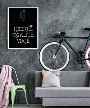 Pôster Liberté - Preto