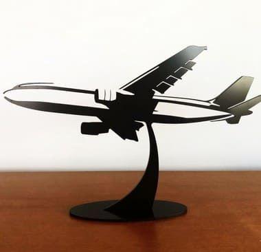 Avião de Acrílico para decoração