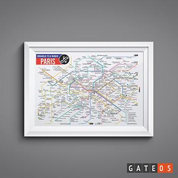 Pôster Embarque Pelo Mundo - Metrô Paris,