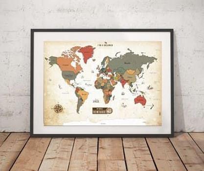 Mapa Raspadinha - Vintage