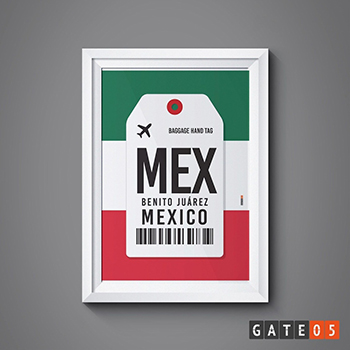 Pôster Aeroporto MEX - México - Benito Juárez