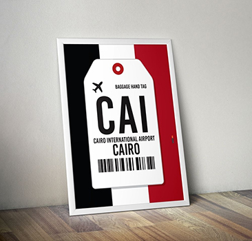 PÔSTER AEROPORTO CAIRO - EGITO