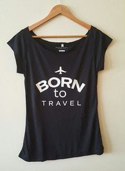 Camisa Feminina - Born To Travel