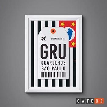 Pôster Aeroporto GRU- São Paulo, Brasil - Guarulhos
