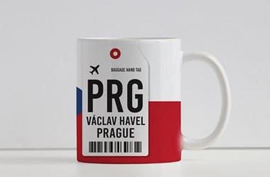 Caneca Aeroporto PRG Praga- Václav Havel, República Checa