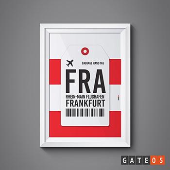 Pôster Aeroporto FRA - Frankfurt, Alemanha - Rhein-Main Flughafen