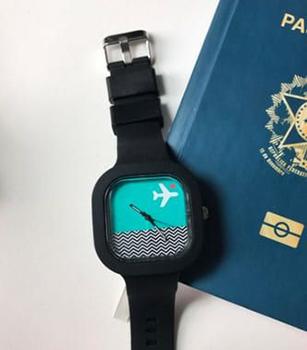 Relógio Go! Avião Love Travel