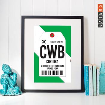 Poster Aeroporto CWB- Curitiba - Parána - Brasil