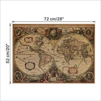 Mapa Vintage Mundo