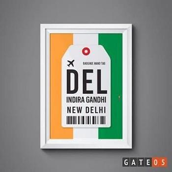 Pôster Aeroporto DEL - Nova Delhi, Indía - Indira Gandhi
