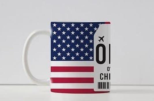 Caneca Aeroporto ORD, O' Hare - Chicago - Estados Unidos