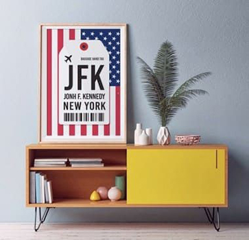 Pôster Aeroporto JFK - New York - John F, Kennedy