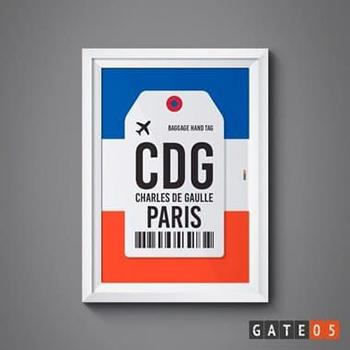 Poster Aeroporto CDG - Paris, França - Charles de Gaulle