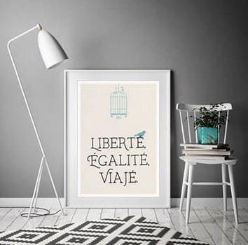 Pôster Liberté - Branco