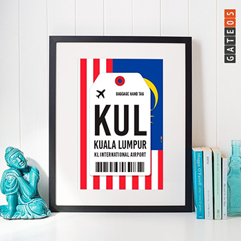 Pôster KL International Airport - Kuala Lumpur