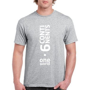 Camisa Unissex Six Continents One World