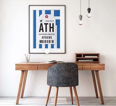 Poster Aeroporto Atenas, Grécia