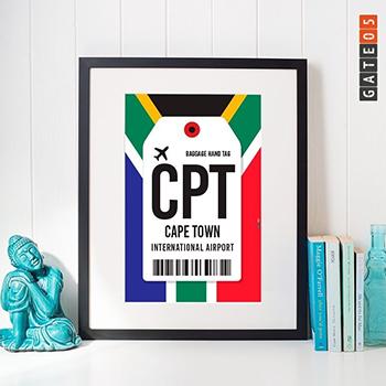 PÔSTER AEROPORTO CAPE TOWN - CPT - ÁFRICA DO SUL