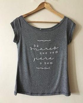 Camisa Há Mares Que Vem Para O Bem