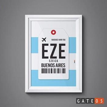 Poster Aeroporto Argentina, Buenos Aires - Ezeiza