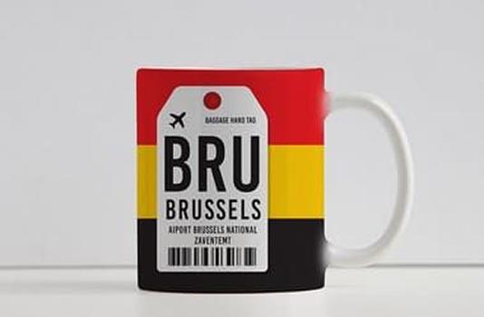 Caneca Aeroporto BRU - Brussels/Bruxelas - Bélgica