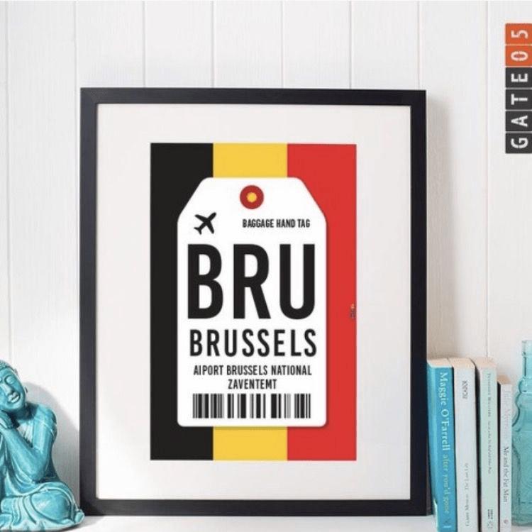 Poster Aeroporto BRU- Bruxelas - Bélgica